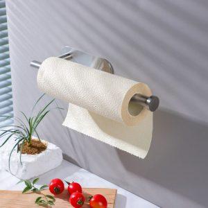 adhesive stainless steel paper towel holders