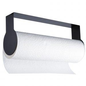 black kitchen roll holder