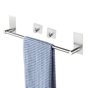 towel bar with 2 towel hooks