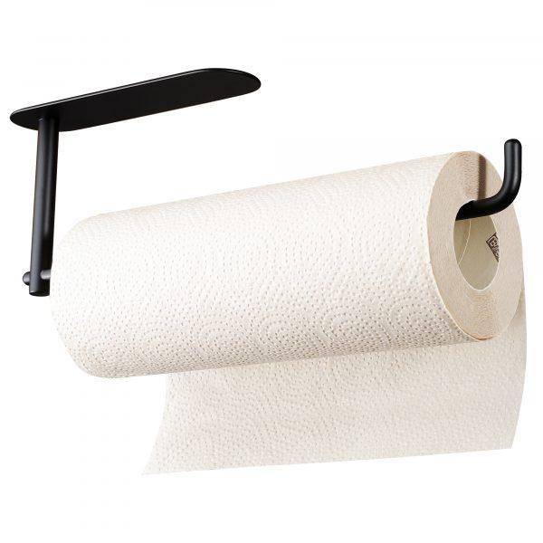 black paper towel holder