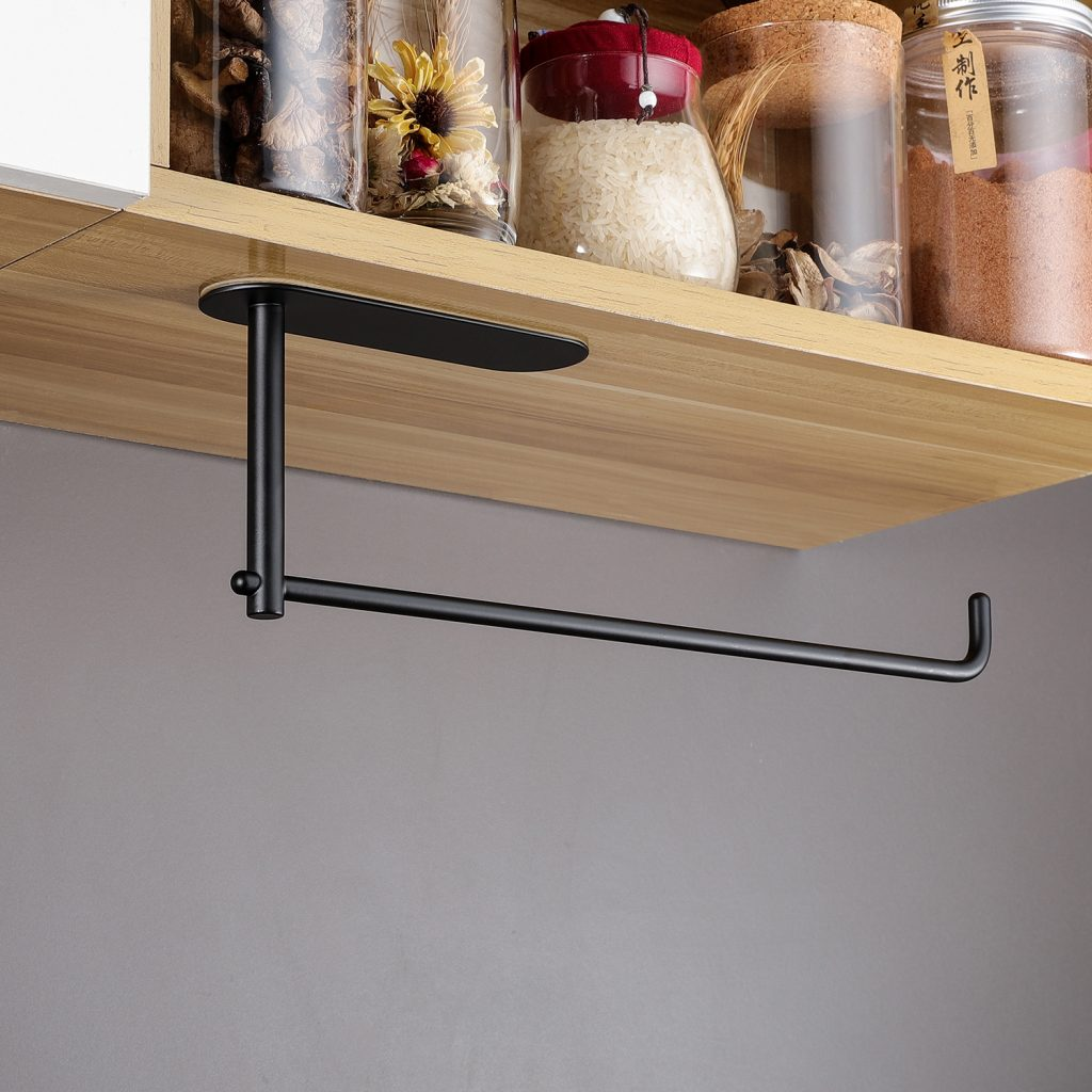 black kitchen paper bar