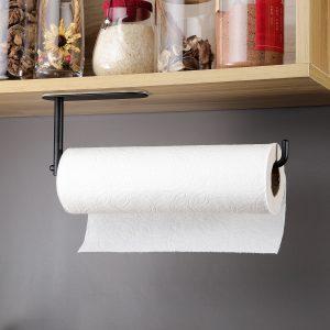 black under cabinet holder for kitchen roll