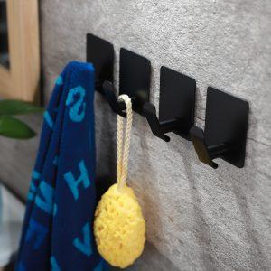 black towel hooks