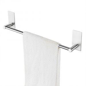 silver towel bar
