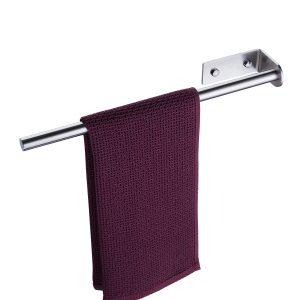 brushed towel bar