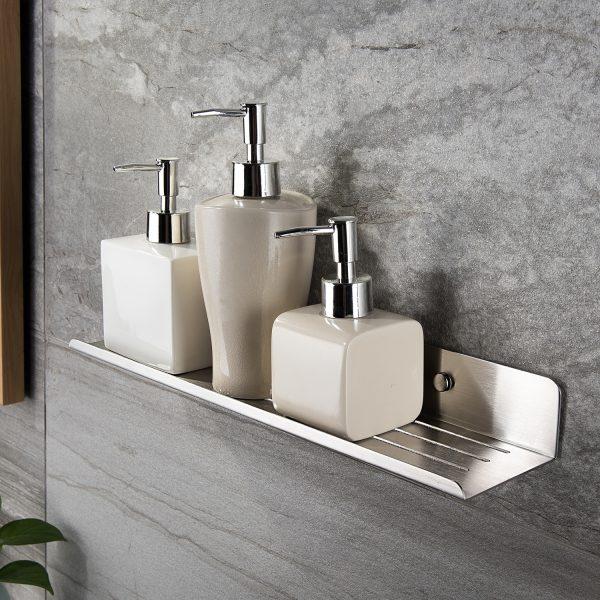 high-end silver shampoo holder